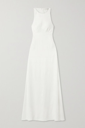 Vanessa Cocchiaro Mary Cutout Washed-satin Gown - Ivory