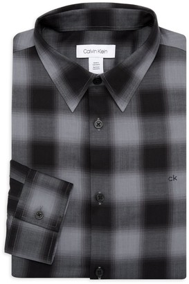 Calvin Klein Plaid Dress Shirt