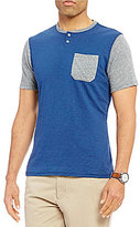 Daniel Cremieux Jeans Short-Sleeve Color Block Pocket Tee