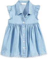 First Impressions Flutter-Sleeve Denim Dress, Baby Girls, Created for Macy's