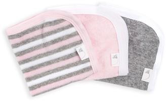 Burt's Bees Set of 3 Multi Stripe Organic Washcloths