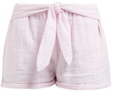 Anaak - Maithili Tie-waist Cotton-muslin Shorts - Womens - Pink