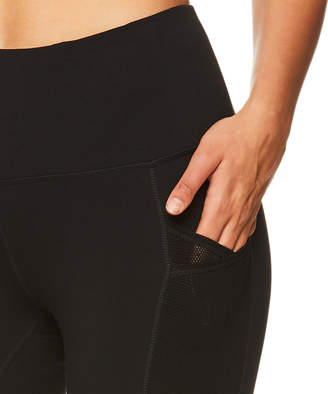 Gaiam Women's Capris BLACK - Black Mesh Pocket 22'' High-Rise Capri Leggings - Women