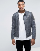 Diesel L-MACKSON Vintage Leather Jacket