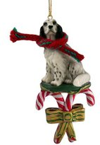 Conversation Concepts English Setter Blue Belton Dog Candy Cane Christmas Holiday Ornament