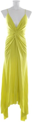 Galvan Yellow Synthetic Dresses