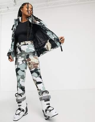 Asos 4505 4505 ski super skinny trouser with stirrup in camo-Black