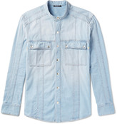 Balmain - Grandad-collar Denim Shirt