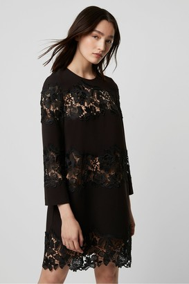 French Connection Fenya Lace Mix Shift Dress