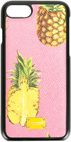 Dolce & Gabbana pineapple print iPhone7 case - women - Calf Leather - One Size