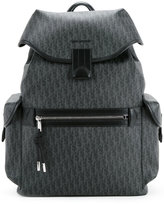 Christian Dior printed backpack - men - Calf Leather/Canvas - One Size
