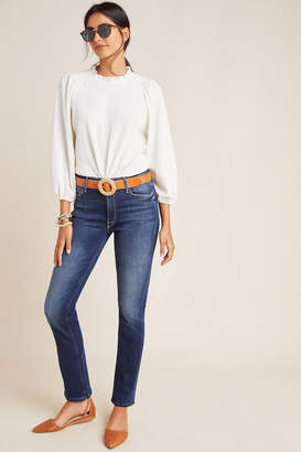 Mother The Dazzler Mid-Rise Straight Jeans