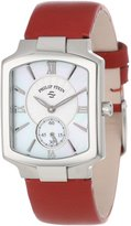 Philip Stein Teslar Women's 21-CMOP-CIDR Classic Red Italian Calf Strap Watch