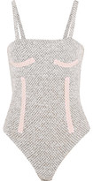 Emilia Wickstead Honeycomb Wool-Blend Bodysuit