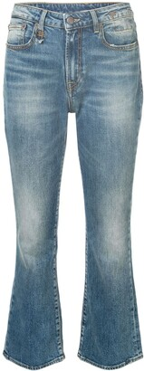 R 13 Flared Cropped Jeans