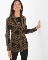 Chico's Geometric Linear Blazer