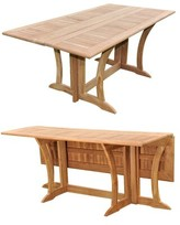 Lenworth Extendable Teak Dining Table Rosecliff Heights