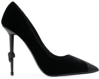 Philipp Plein Decollete crystal hi-heels
