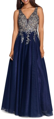 Xscape Evenings Embroidered Bodice A-Line Gown