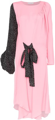 J.W.Anderson polka dot print balloon sleeve silk dress
