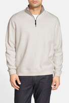 Tommy Bahama Flip Side Reversible Quarter Zip Twill Pullover