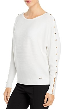T Tahari Button Sleeve Sweater