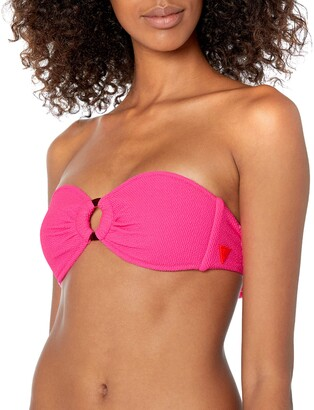 GUESS Women's Removable Strap Bandeau Swim TOP