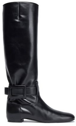 Roger Vivier Buckle-detailed Leather Boots
