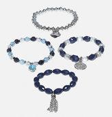 Avenue Navy Bead Bracelet Set
