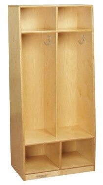 Child Craft Childcraft 2 Section Preschool Cubby Locker Childcraft