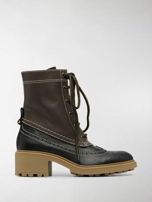 Chloé Franne leather lace-up boots