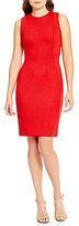 Calvin Klein Sparkle Scuba Sheath Dress