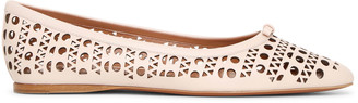 Alaia Pointed blush leather ballet flats