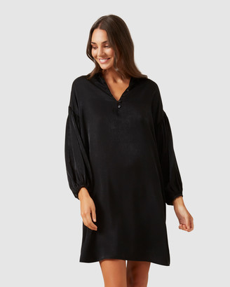 French Connection Balloon Sleeve Shift Dress