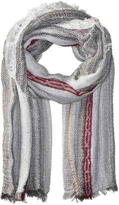 La Fiorentina Women's Italian Collection Striped Scarf