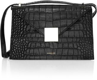 DeMellier Copenhagen Croc-Embossed Leather Crossbody Bag