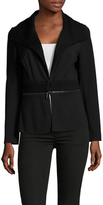 Magaschoni Ponte Knit Zipper Jacket