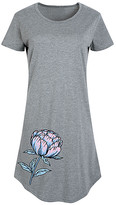 Instant Message Women's Women's Tee Shirt Dresses HEATHER - Heather Gray Flower Short-Sleeve Dress - Women & Plus