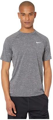 Nike Heather Short Sleeve Hydroguard (Black) Men's Swimwear