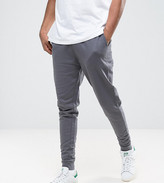 Asos Tall Tapered Joggers In Grey