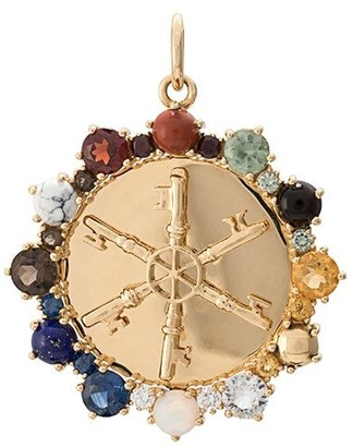 Foundrae 18kt yellow gold multi stone Aether pendant