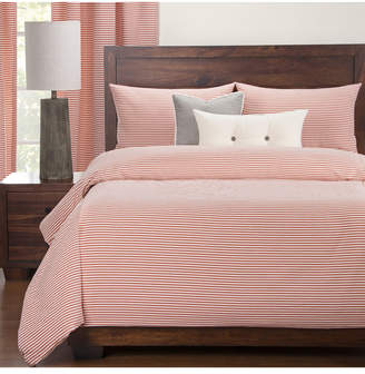 Everlast Revolution Plus Stripe Apricot Stain Resistant 6 Piece Queen Duvet Set Bedding