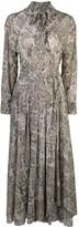 Norma Kamali Scale Python-print shirt dress