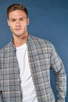 Mens Next Grey Long Sleeve Grindle Check Shirt