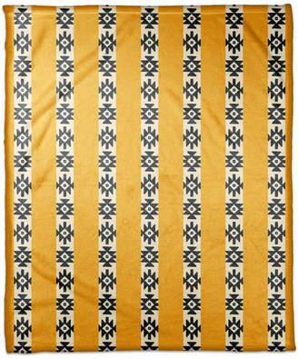 Ddcg Southwestern Pattern in Yellow Fleece Blanket