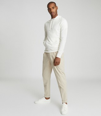 Reiss Santiago - Cashmere Blend Hoodie in White