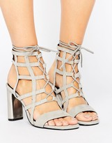 Sol Sana Helen Caged Detail Heeled Sandals