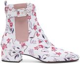 Altuzarra Jacquard Parnassus Chelsea Boots in Floral,Purple.