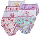 Peppa Pig Little Girls Panties 7 PAIR of Underwear Briefs Size 2T-3T