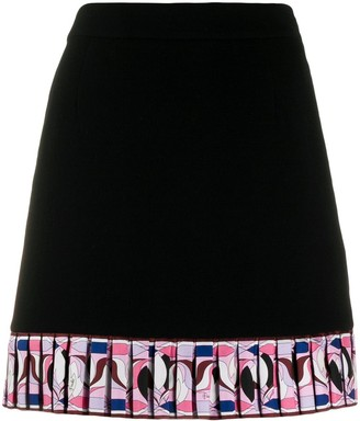 Emilio Pucci Pleated Trim Mini Skirt